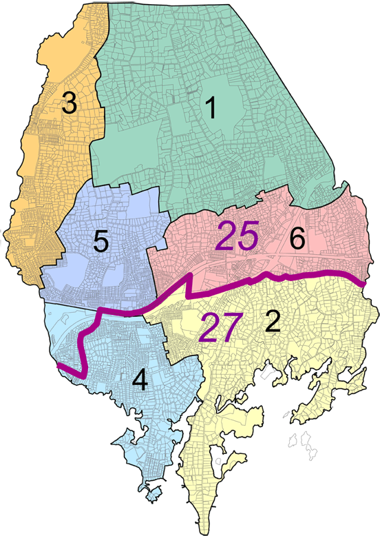 Darien Voting District Map